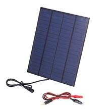 12 В 10 Вт солнечная панель поликристаллических кремниевых солнечных элементов системы DIY для автомобиля лодка батареи зарядные устройства модуль кемпинга на открытом воздухе