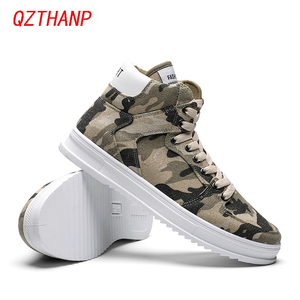 Image 3 - Fashion High Top Camo Casual Shoes Men Respirant Denim Sneakers Krasovki Chaussure Homme Tenis Masculino Adulto Male Footwear