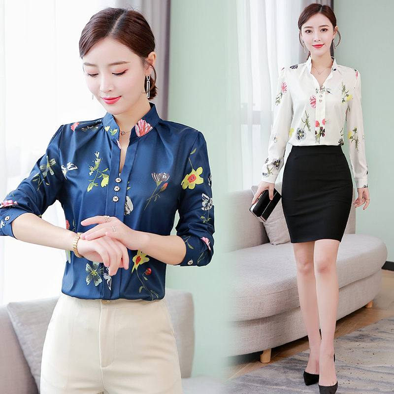 Korean Fashion Cotton Women Blouses Floral Print Long Sleeve Pink Women Shirts Plus Size 4XL 5XL Womens Tops and Blusas in Blouses amp Shirts from Women 39 s Clothing