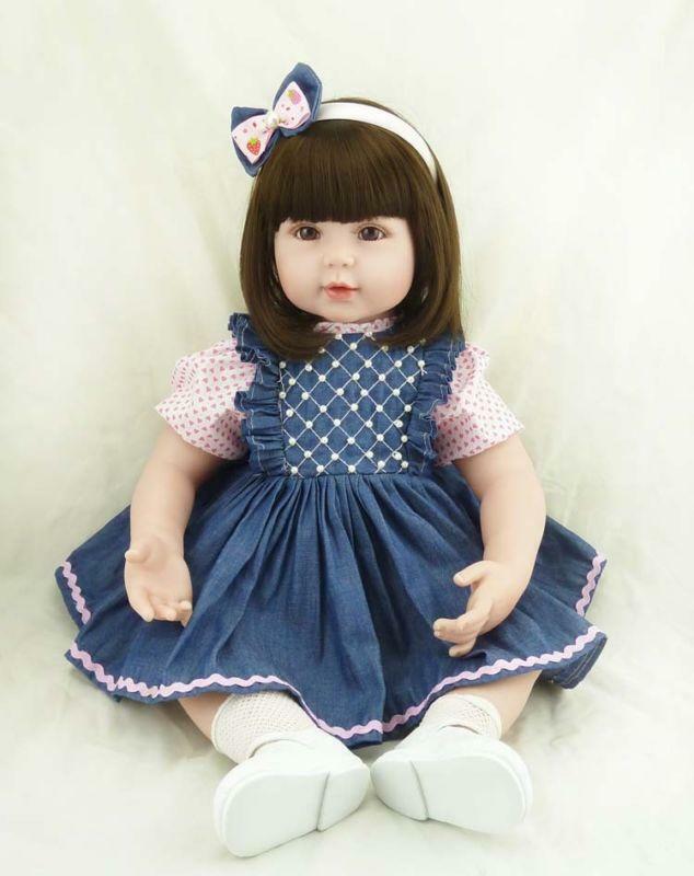22 Bebe Reborn Baby, популярная джинсовая юбка, виниловые силиконовые куклы, реалистичный подарок, Детская кукла, игрушки для детей, игрушки для дев