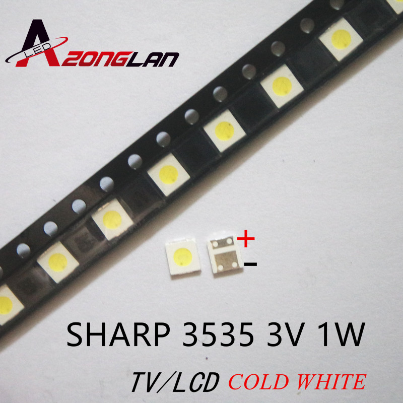 100pcs For Sharp Led Tv Application Lcd Backlight For Tv Led Backlight 1w 3v 3535 3537 Cool White Gm5f22zh10a Electronic Components & Supplies