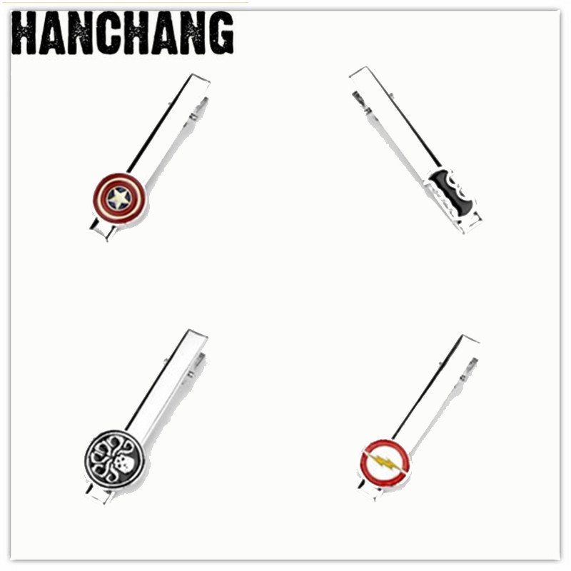 Agent Of S.H.I.E.L.D Star Wars Star Trek Deadpool Avengers Batman Superhero French Shirt Tie Clip Tie Pins For Men Accesories
