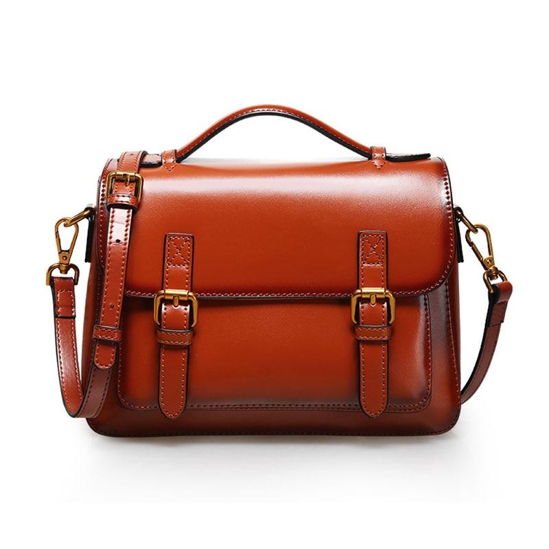 Luxury Style Women Genuine Leather Handbags Lady Real Cow Leather Satchel Handbags Leisure Portable Women Messenger Bags F546