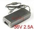 10 шт. Высокое качество IC решения AC 100 в-240 в DC 36 В 2.5A переключатель питания, 90 Вт светодиодный адаптер, 5,5 мм * 2,1-2,5 мм Бесплатная доставка
