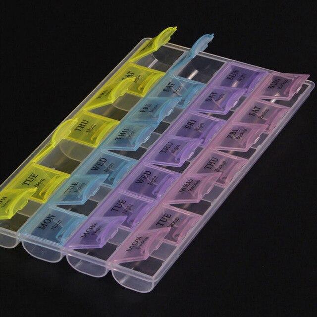 1 szt. 4 rzędy 28 kwadratów tygodniowo 7 dni tabletka pigułka uchwyt skrzynki do przechowywania medycyny organizator pojemnik Case