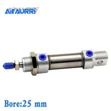 MI 25 bore stroke 10/15/20/25/30/40/50-S-CA/U/R/CM stainless steel mini cylinder