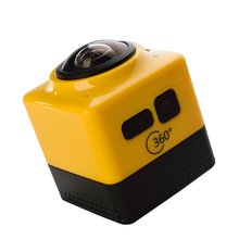 1280×1024 28fps 360 VR действий камеры с 220 degre широкий угол объектива wifi спорт камера VR видео камеры бесплатная доставка