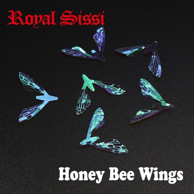 4bec040766dd9 Royal Sissi chaud 10 paires film arc-en-ciel réaliste ailes d'abeille mouche  sèche quintessentiel poly plat ailes d'abeille pour la pêche à la mouche de  la ...