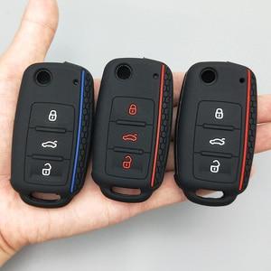 Image 4 - Car key Protect shell For Volkswagen polo passat b5 golf 4 5 6  MK5 MK6 Eos Bora Beetle TSI new design Silicone cover case