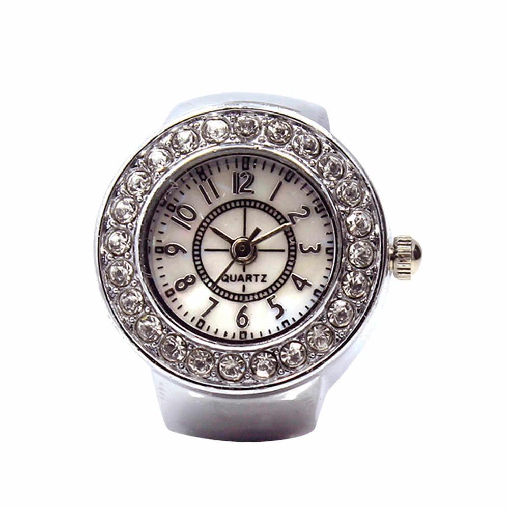 เครื่องประดับสไตล์สตรีควอตซ์ wist นาฬิกาเหล็ก Cool Elastic Quartz แหวนนิ้วนาฬิกาใหม่นาฬิกา Dropship