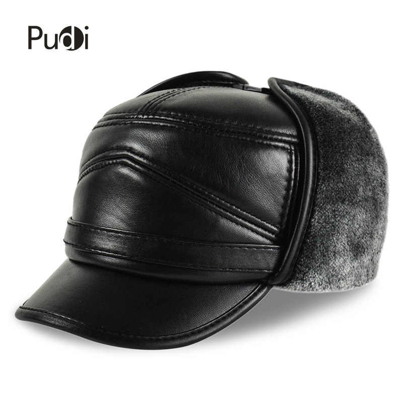 a1c5f38c2fb HL164-F Genuine leather baseball cap hat men s brand new cow skin leather  hats caps