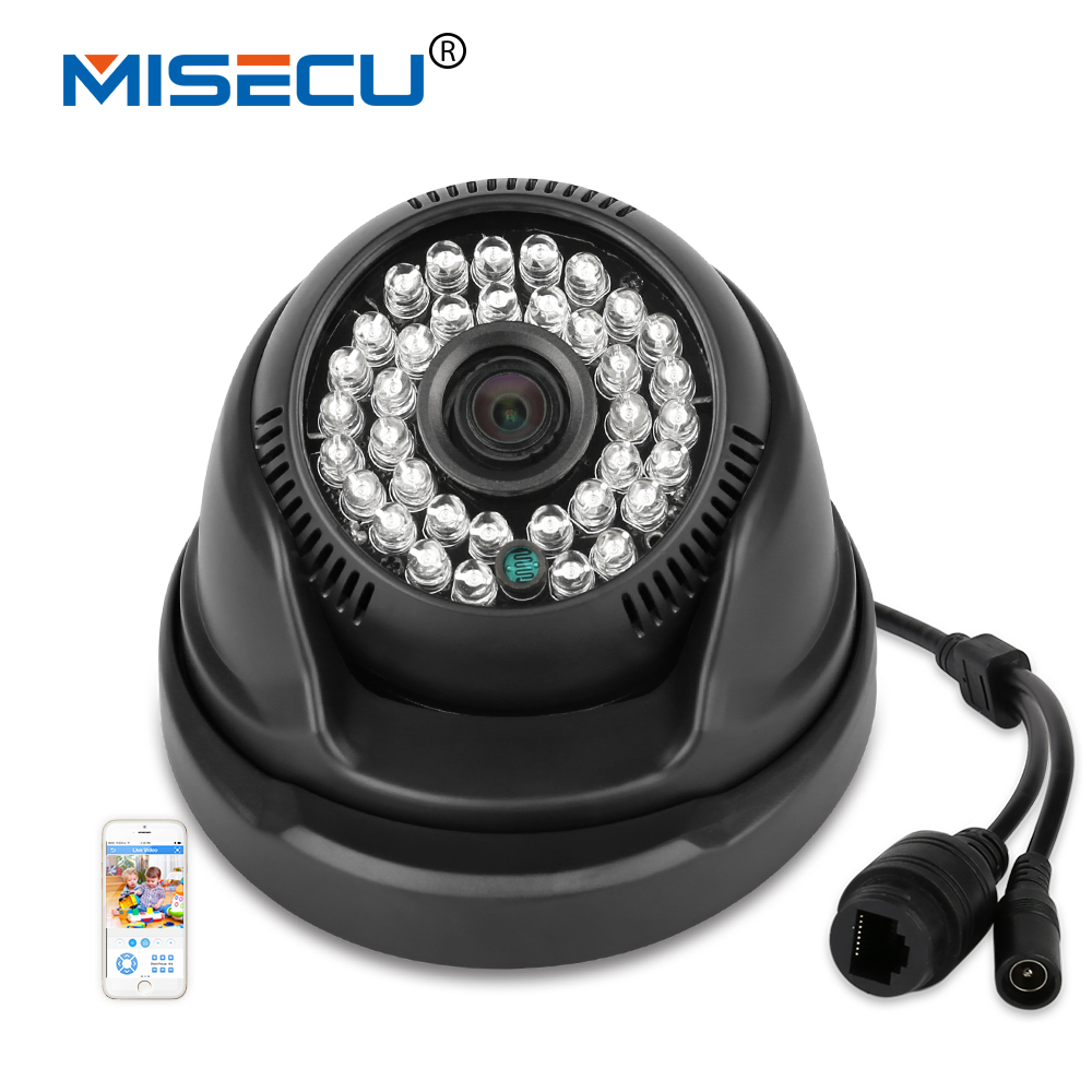 MISECU IP Caméra 1080 P 960 P 720 P Manuel Rotation Onvif P2P réseau Filaire Nuit Infrarouge IR RTSP 48 V POE CCTV Dôme sécurité