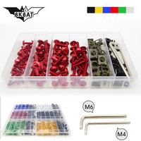 Universal Motorcycle Bolts Screw Nuts M4/M6 fairing kit cover for victory cross country vegas mv agusta f3 mv agusta