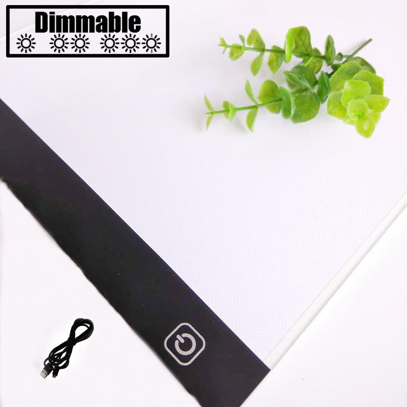 Touch dimmen Ultradünne 4mm A4 LED Licht Tablet Pad Gelten zu EU/UK/AU/US/ USB Stecker Diamant Stickerei Diamant Malerei malerei