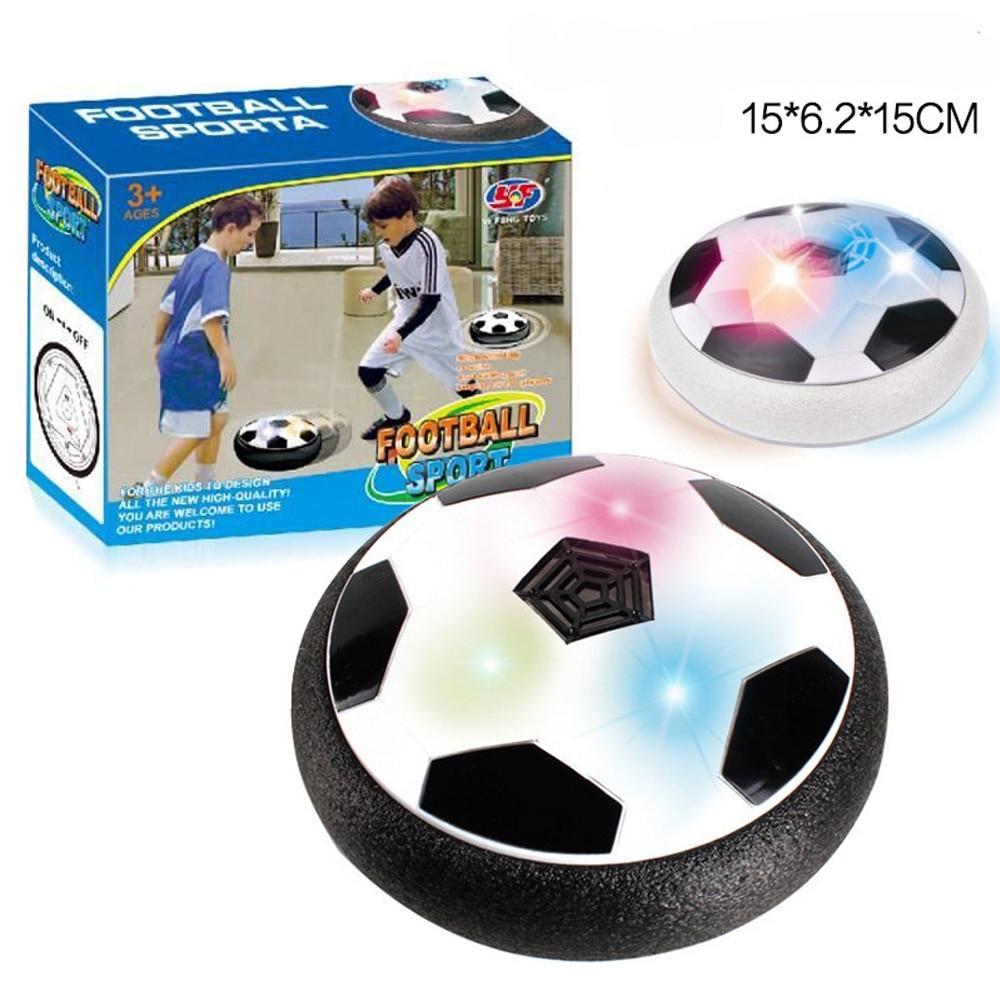 Niños aire de fútbol equipo de entrenamiento divertido LED luz intermitente Bola de juguetes pelotas disco deslizamiento Multi-Superficie de vuelo