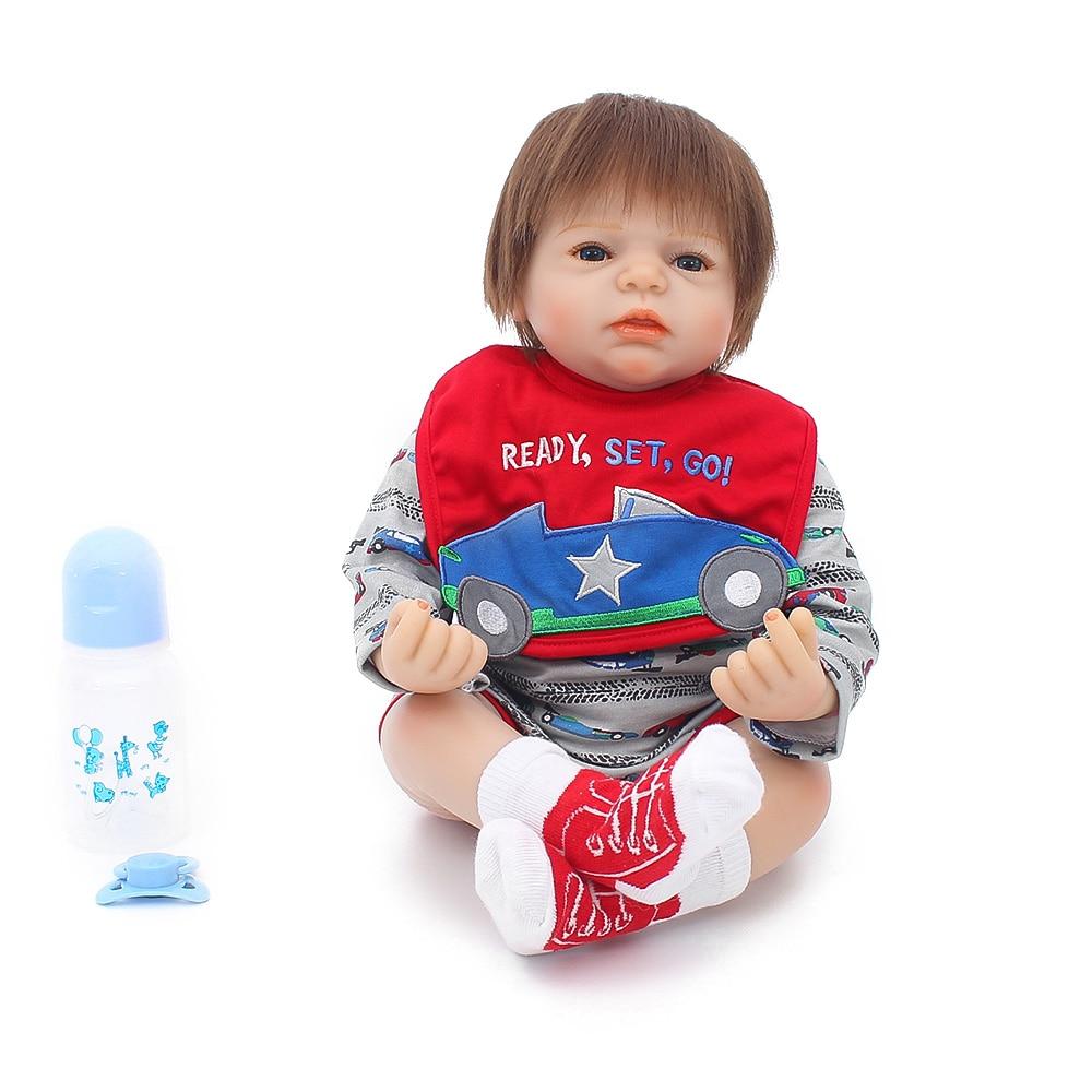 Детские куклы Reborn boy, 20 дюймов, силиконовые куклы reborn, игрушки, подарок для детей, мягкие, на ощупь, настоящие, красивые, bonecas bebe doll men