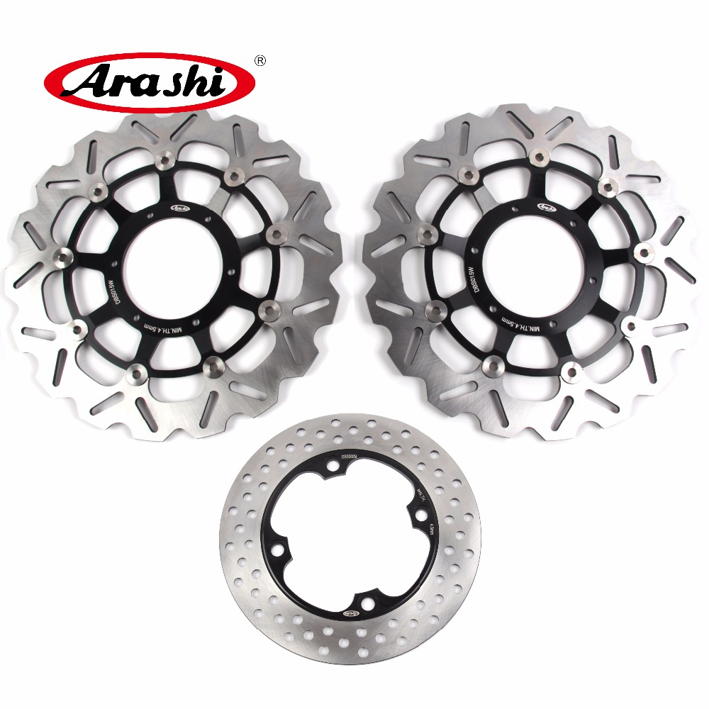 Arashi 1 Set For HONDA CBR 600 RR 2003 2004 2005 2006 2007 2008 2009-2015 CBR600RR Front Brake disk & Rear Brake Disc Rotor arashi 1 set for honda cbr 600 rr 2003 2004 2005 2006 2007 2008 2009 2015 cbr600rr front brake disk