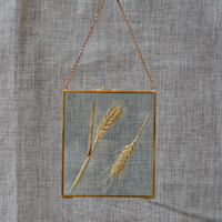 Presente de bronze antigo pendurado imagem de vidro moldura de metal retrato do vintage suporte livre pendurado molduras decoração da sua casa presente