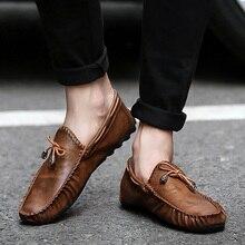 Для мужчин мягкая удобная обувь для вождения Для мужчин Мокасины, обувь мокасин kasual для Для мужчин из натуральных материалов, Schoenen Повседневное кожаная обувь мокасины