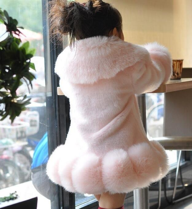 Hot sales high quality CHILDREN WINTER COAT GIRL FUR COAT FOX FUR COAT white THICK WARM OVERCOAT FOR GIRL winter coat coat figl coat
