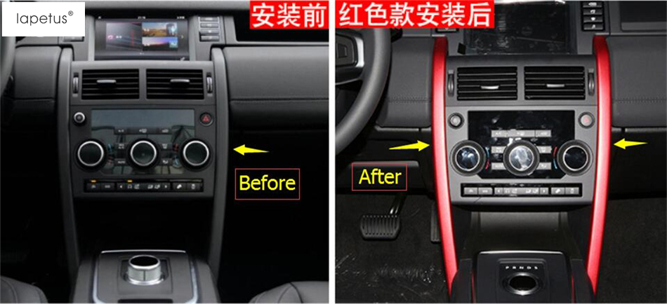 Accessories For Land Rover Discovery Sport 2015 2016 2017 2018 Central Middle Control Decor Panel Cover Trim 2 Pcs / 2 Color lapetus for land rover discovery sport 2015 2018 interior styling console gear shift knob shifter panel decor frame cover trim