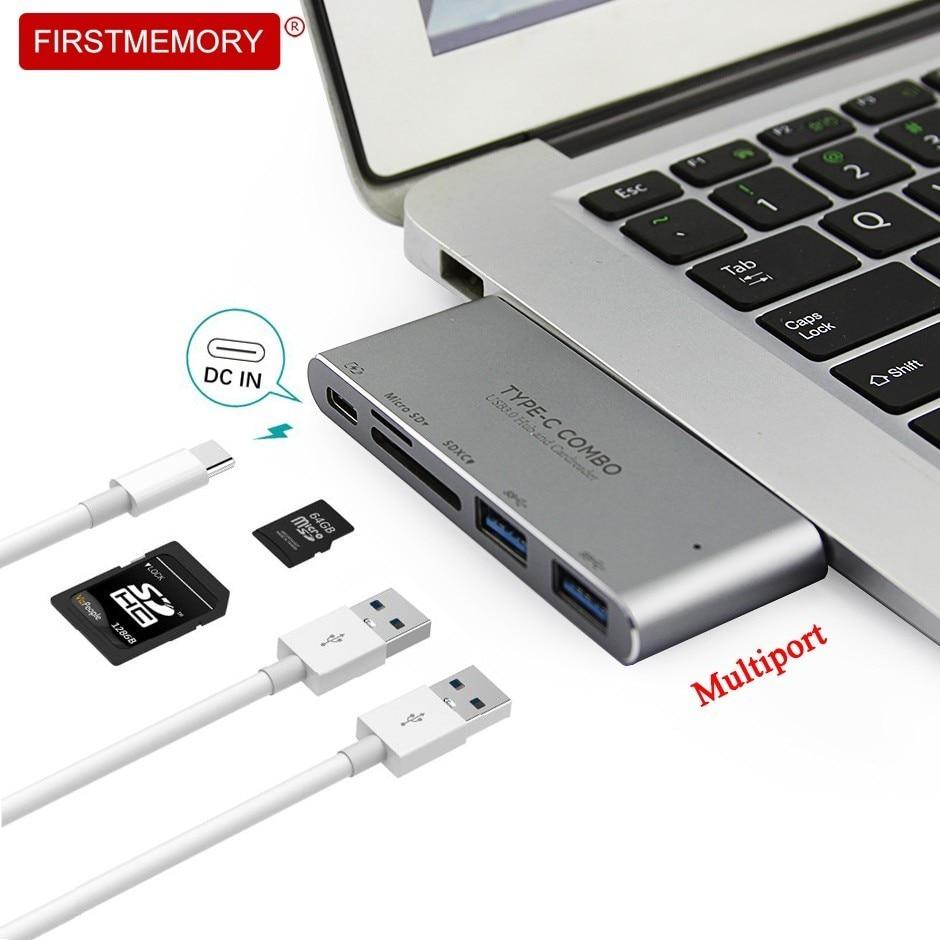 Type-C Hub Haute Vitesse 5-en-1 Multiport USB C HUB Avec TF/SD Carte pouvoir lecteur Livraison PD-Puissance Pour Mac Book Pro, surface Pro