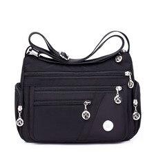 Модные женские сумки через плечо Hobos на молнии сумка легкая водостойкая нейлоновая оксфордская дорожная сумка через плечо кошельки сумки