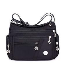 11d0fcfad De las mujeres de la moda, bolsos de mensajero, vagabundos hombro bolso de  la cremallera ligero impermeable de Nylon de Oxford d.