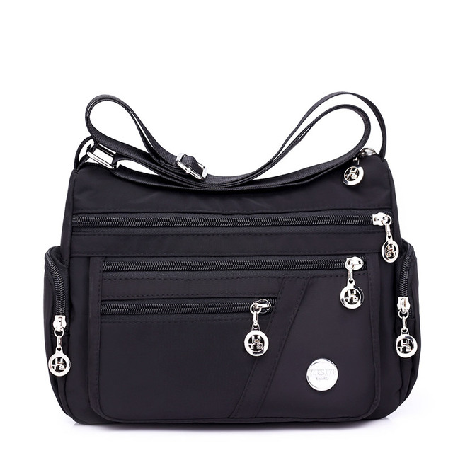 0fe69da34e40 Fashion Women Messenger Bags Hobos Shoulder Zipper Bag Lightweight  Waterproof Nylon Oxford Travel Crossbody Bag Purses Handbags