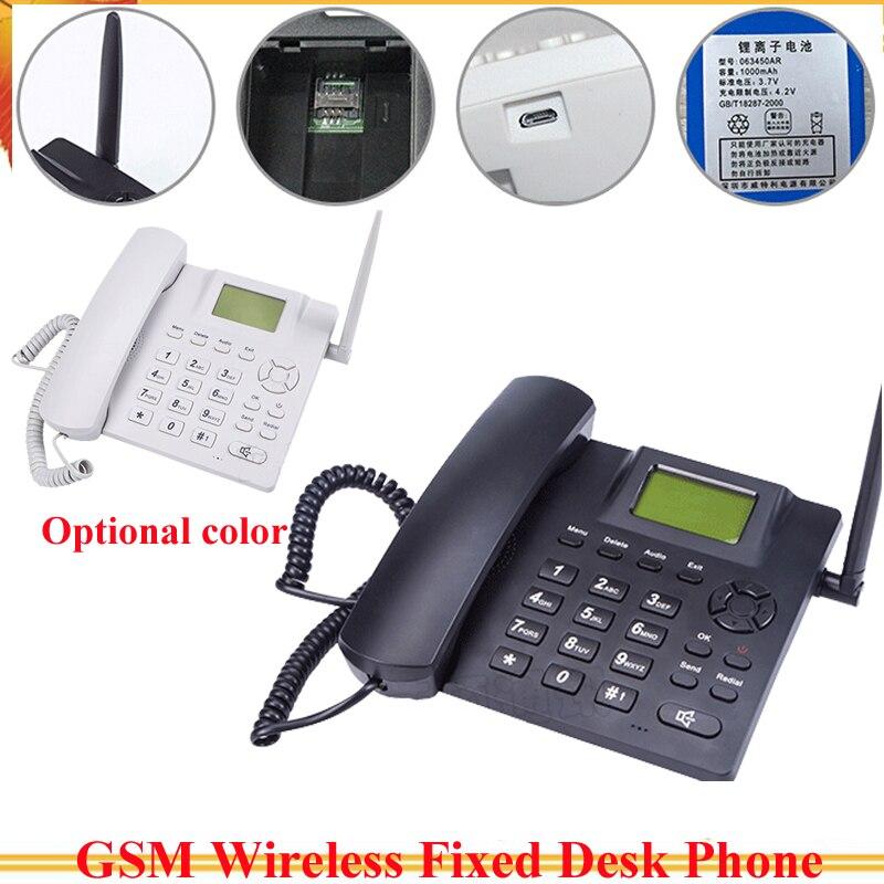 Téléphone fixe sans fil GSM de bureau GSM 850/900/1800/1900 support anglais, russe, français, allemand, estonien, espagnol, portugais