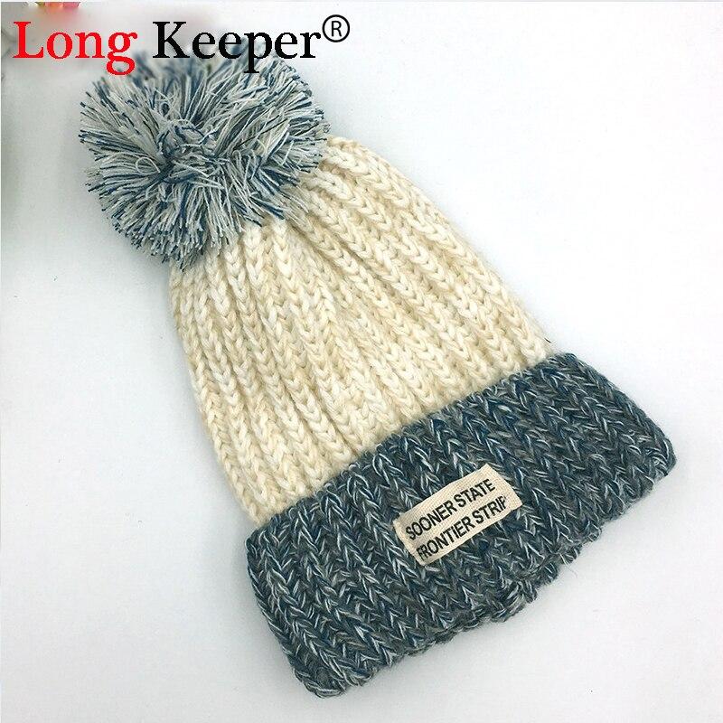 №Long Keeper mujeres Otoño Invierno sombreros Punto de ganchillo ...