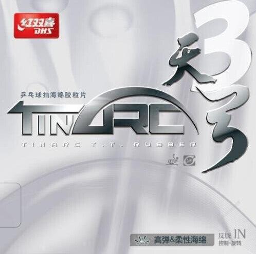 DHS TinArc 3 Tin arc 3 (초 탄성, 비 점착성) Pips-in 탁구 (PingPong) 고무 스폰지