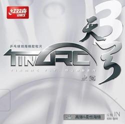 DHS TinArc 3 Zinn arc 3 (Super-Elastizität, Nicht Klebrig) zacken-im Tischtennis (PingPong) Gummi Mit Schwamm
