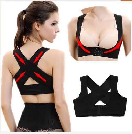 Women Adjustable Back Support Belt Body Shaper Corset Posture Corrector Brace and Support Shoulder Corrector for Health Care