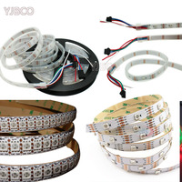 high quality 5m Dual signal wires DC5V WS2813 30/60/144leds/m individually addressable RGB led pixel light strip 2811 ws2812b up