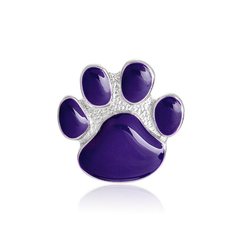 Фиолетовый брошь в виде лапки металла эмалированная собака коготь Pin Кнопка рюкзак джинсовая куртка, стиль воротник-значок ювелирные издел...
