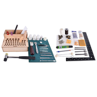 1 Set Leather Craft Sewing Punching Stamping Tools Stitching Carving Kits