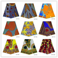 African Wax Fabrics High Quality African 100% Polyester Print Ankara Wholesale And Retail The New Listing 2019 Nigeria Java Wax nigerian new java new wax 100