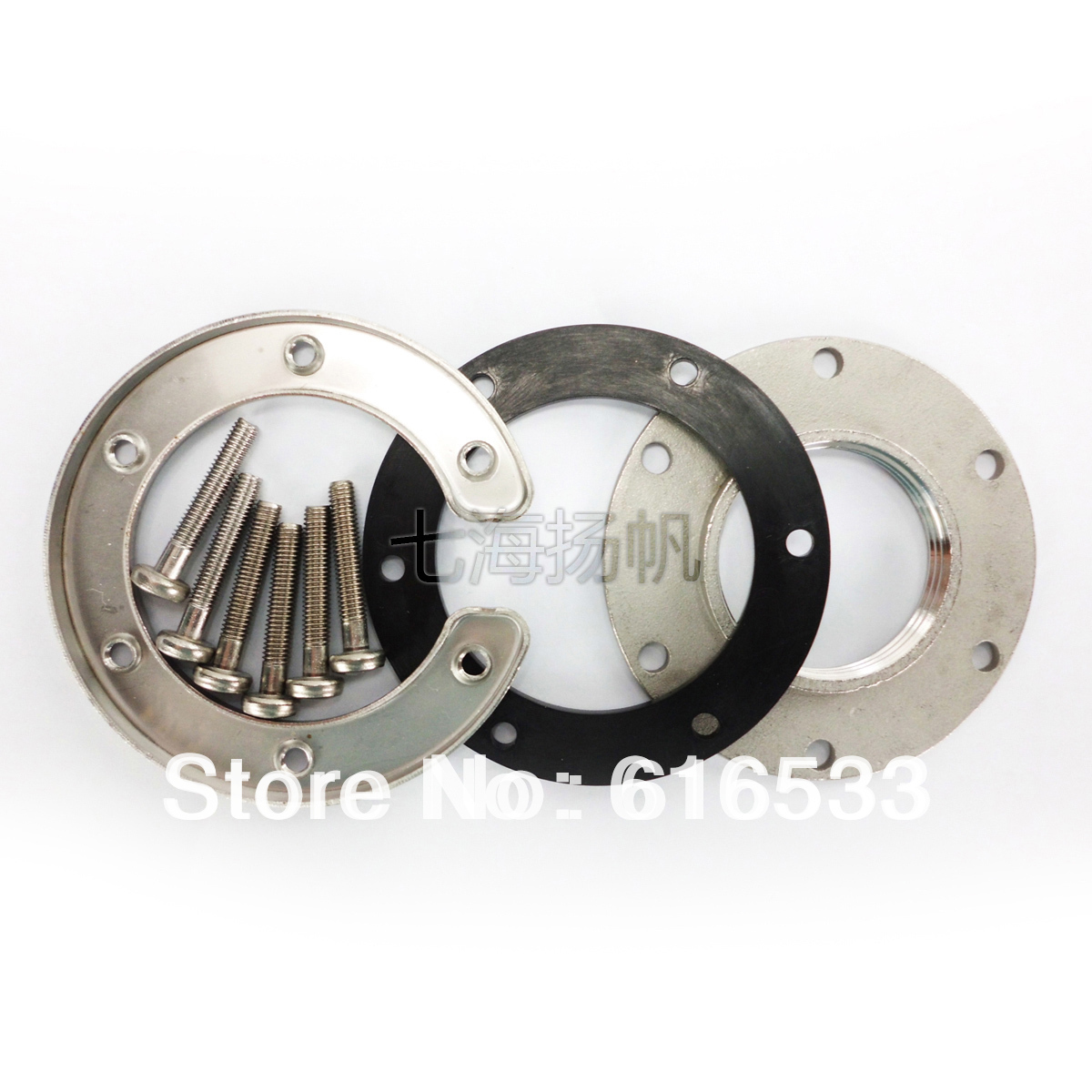 KUS Stainless Steel Flange Matched With S3/S3H Series Sensor Marine Yacht Sailing Ship Car Boat Accessories