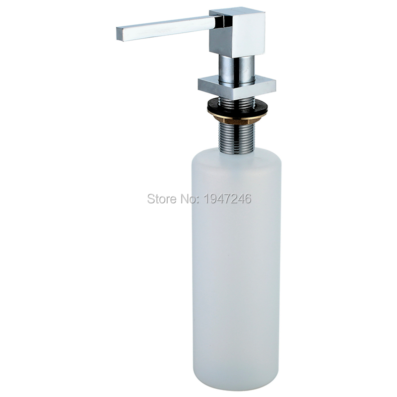 Solid Mount Pump Countertop Kitchen Sink Soap Dispenser Set With Bottle High Quality Home Improvement