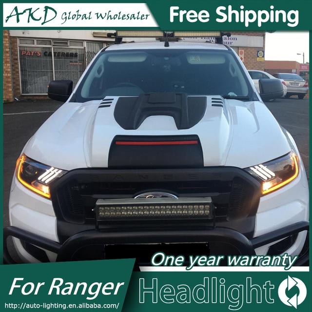 Akd Car Styling Head Lamp For Ford Ranger Mustang Headlights Led Headlight Angel Eyes Drl Bi