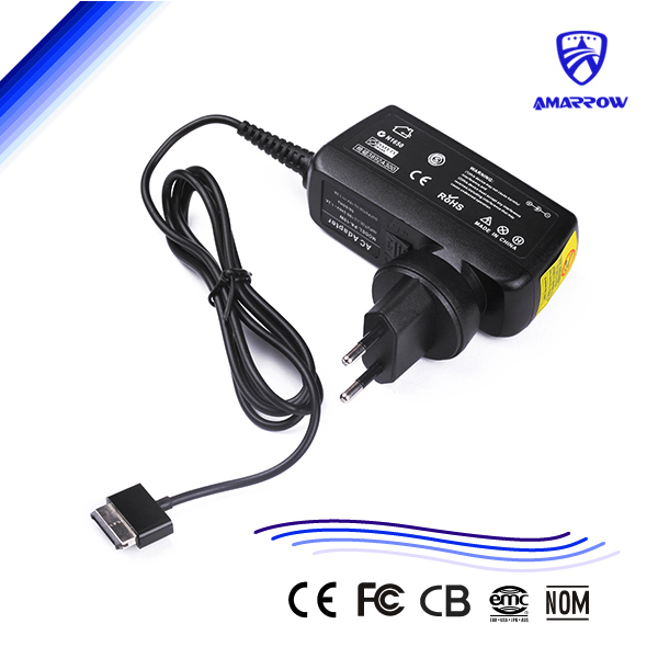 15V 1.2A Tablet Charger portable charger Laptop Power Supply for ASUS TF101 TF201 TF300 TF700 wide connector