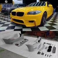 F10 5 серии ПУ Неокрашенный Комплект кузова заднего бампера переднего бампера diffuserfor BMW F10 ЭЛЕКТРОПОГРУЗЧИК, обвес 11 15