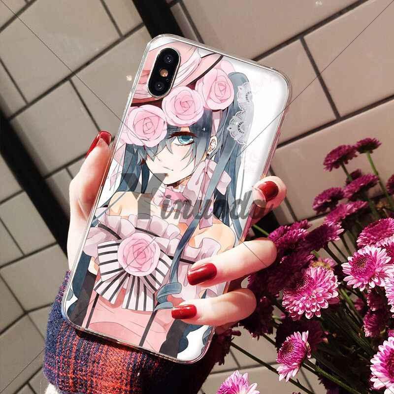 Anime Black Butler Ciel Phantomh Yinuoda projeto Unique Luxury Tampa Do Telefone para o iPhone Da Apple 8 7 6 6 S Plus X XS MAX 5 5S SE XR