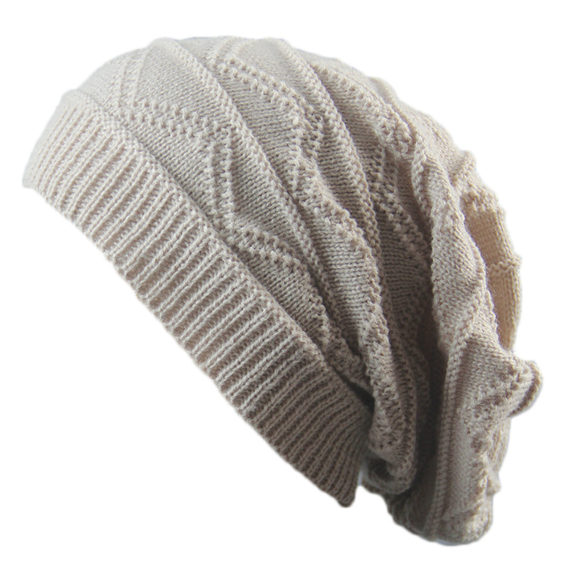 a98ff50182b 10pcs Lot Slouchy Crochet Beanies Men Winter Knitting Baggy Skull Hats  Women Knitted Beanies Wholesale