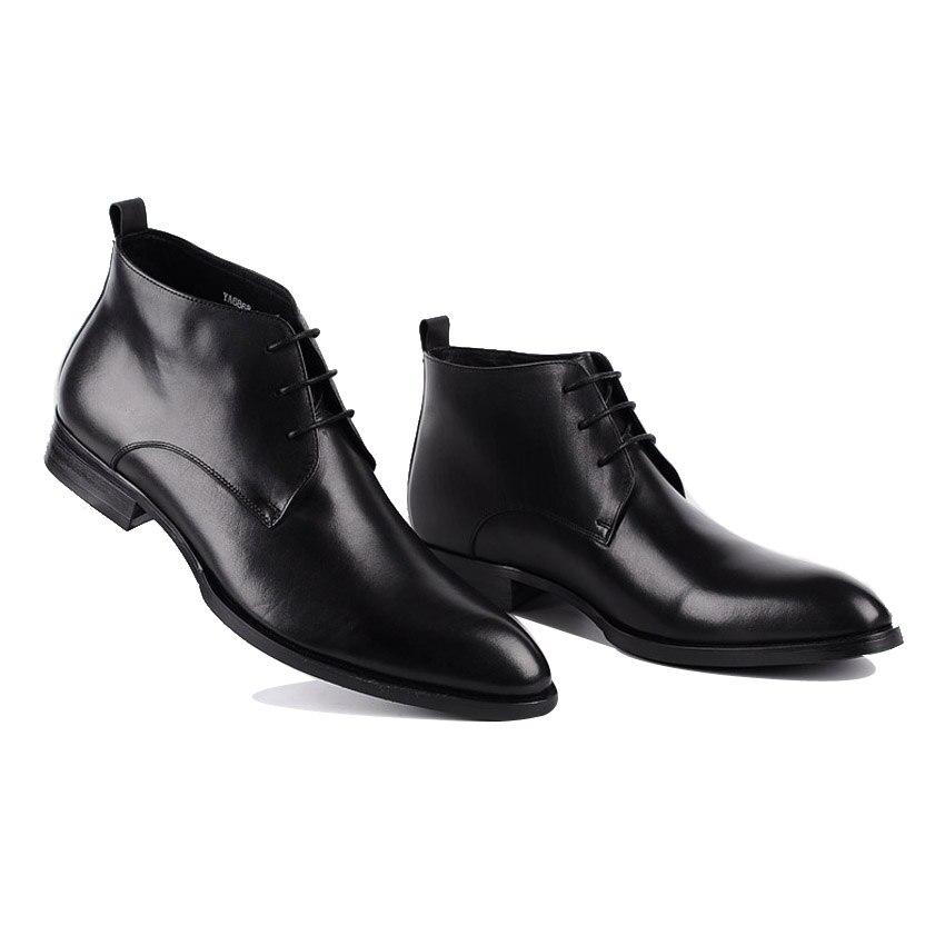 Équitation Ymx55 Noir Bottes Lacé Cowboy Hiver Classique Robe Rond Chaussures De Martin Pour Homme Véritable En Hommes Main Cheville Bout Formelle Cuir 8NnwOkPX0