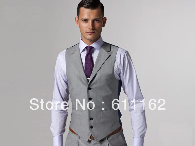 free shipping!gray groom Tuxedos/wedding men dress/Best man Suit ...