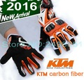 2016 New Fall KTM motorcycle riding gloves  Off -road racing gloves Leather carbon fiber glove Anti-wrestling size M L XL