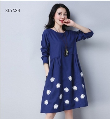 US $6.47 28% OFF|2018 new Maternity dress cotton prited Vintage dresses  women\'s Maternity wear Pregnancy Retro plus size dress lady party-in  Dresses ...