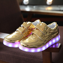 Eur 25-34// Glowing Luminous Sneakers Led Slippers Tenis Shoes Krasovki Illuminated Sneakers Tenis Led Simulation Sliver Shoes